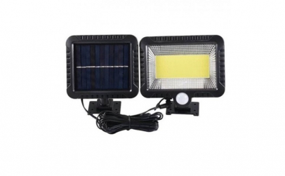 Lampa solara 128 LED cu panou solar si