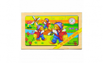 "Puzzle lemn ""Ursuleti"" - 4 planse * 12 p"