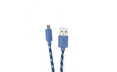 Cablu SBOX microUSB 1m Blue impletit