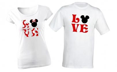 """Set tricouri pentru cupluri """"Love"""""""