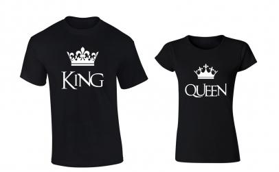 """Set tricouri pentru cupluri """"King/Queen"""""""