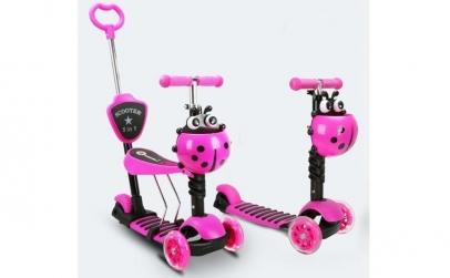 Trotineta Scooter 5 in 1, varsta 1-7 ani