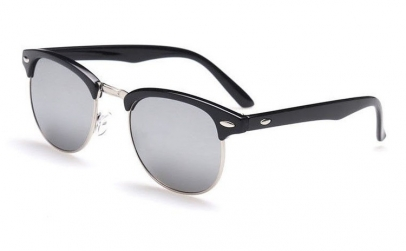 Ochelari de soare Retro Gri Oglinda -