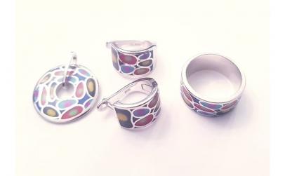 Set bijuterii din Argint cu email