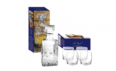 Set 4 pahare + Decanter Whisky