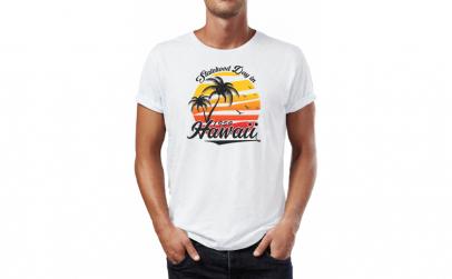 Tricou barbati Hawaii Beach, Bumbac