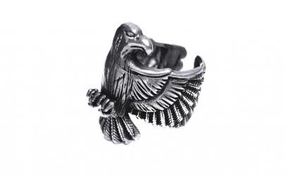 Inel argint 925 reglabil  cu vultur
