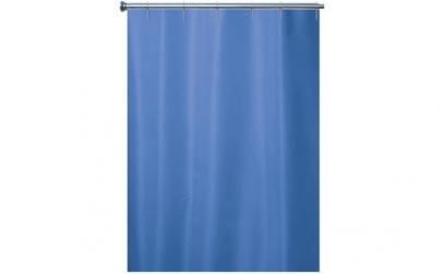 Perdea de dus textil uni albastra