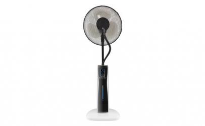 Ventilator cu pulverizator si cu ecran