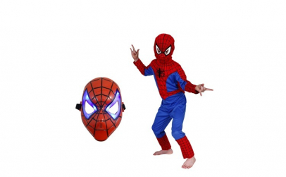 Set costum Spiderman marimea M si masca
