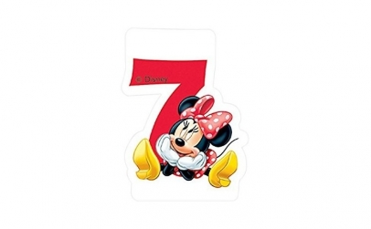 Lumanare tort cifra 7 Minnie Mouse