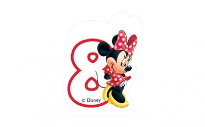 Lumanare tort cifra 8 Minnie Mouse