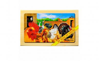 "Puzzle lemn ""Animale domestice"