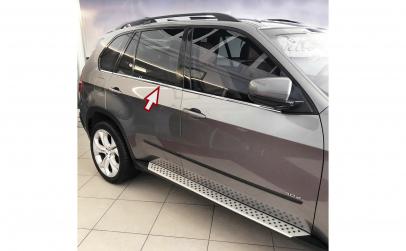 Ornamente crom geamuri BMW X5
