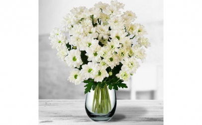 Buchet de 9 crizanteme albe