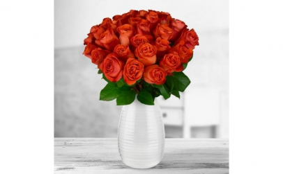 Buchet de 35 trandafiri portocalii