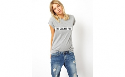 Tricou dama gri  - This could be you