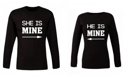 """Set bluze """"He/ She is Mine"""""""
