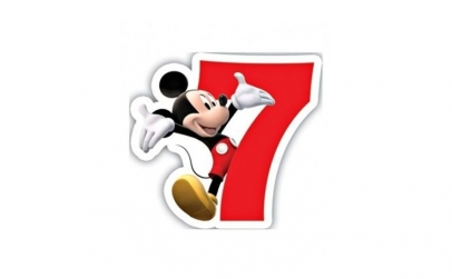 Lumanare tort cifra 7 Mickey Mouse