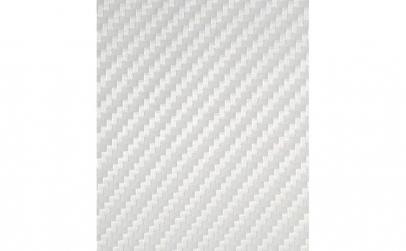 Rola folie carbon 3D alba latime 1.27m