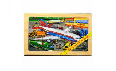 """Puzzle lemn """"Avion"""" - 4 planse"""