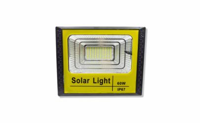 Proiector LED 60W cu panou solar