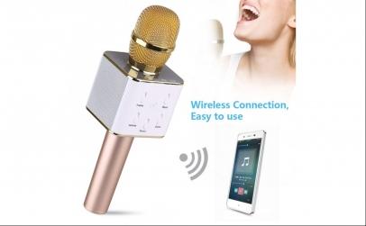 Microfon Wireless cu boxa pentru karaoke