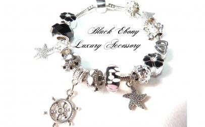 Bratara charm Ebony Black