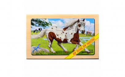 Puzzle lemn - Animale domestice