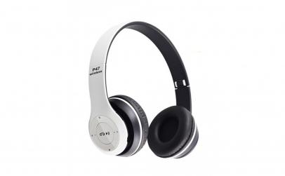 Casti wireless MRG P47 Alb cu bluetooth
