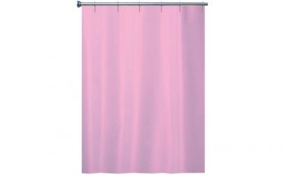 Perdea de dus textil uni roz 180x200cm