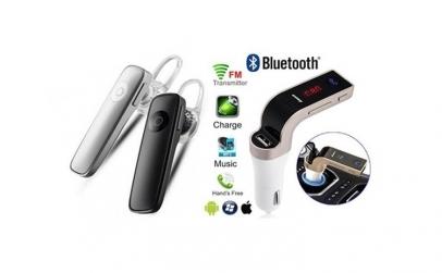 Casca Bluetooth + Modulator FM