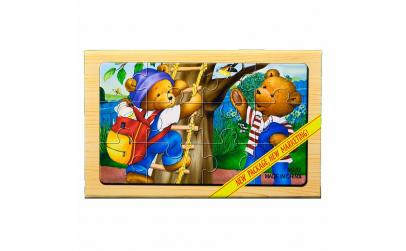 """Puzzle lemn """"Familie ursuleti"""" - 4 pl"""