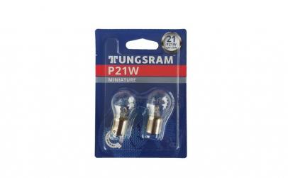 Set 2 becuri auto Tungsram BA15S, P21W
