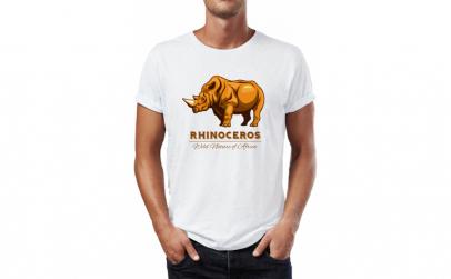 Tricou barbati Rhinoceros, Bumbac 100%,