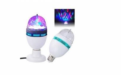 Bec rotativ disco LED
