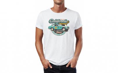 Tricou barbati Classic Car California,
