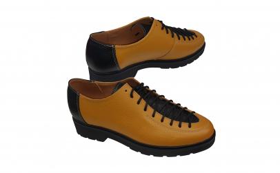 Pantofi dama din piele naturala patine