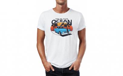 Tricou barbati Ocean Surf, Bumbac 100%,