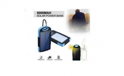 Baterie solara 8000mAh waterproof, LED