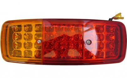 Stop camion LED 15 x 14 pe 24V partea