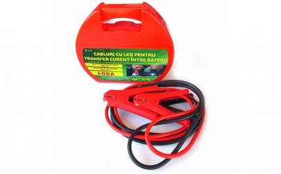 Cabluri pornire auto RoGroup, cu LED