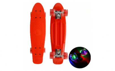 Pennyboard cu led multicolor
