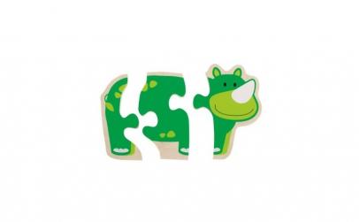 Primul meu puzzle Animale vesele -