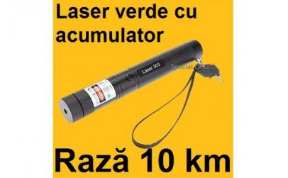 Laser verde 3D cu acumulator raza 10 km