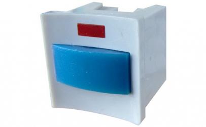 Buton reset, cu retinere, cu LED -
