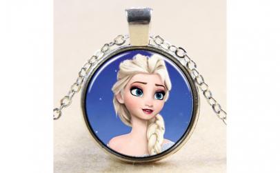 Pandantiv metalic, Elsa Frozen