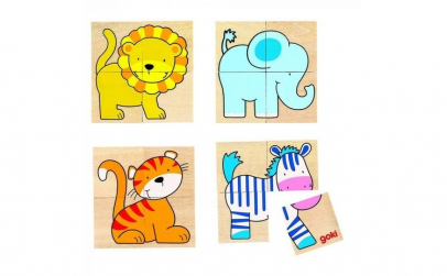 Puzzle lemn 5 animalute (20 piese)