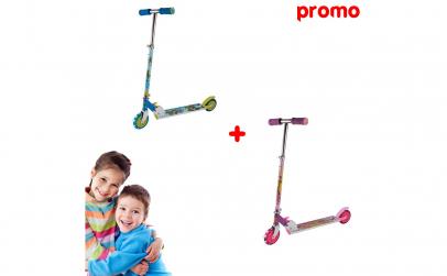2 x Trotineta, pentru fetita si baietel