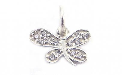 Pandantiv Argint 925 Fluture cu Pietre